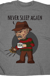 Never Sleep Again Nightmare On Elm Street T-Shirt