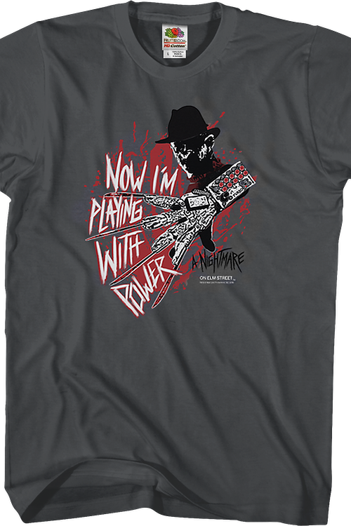 Playing With Power Nightmare On Elm Street T-Shirt