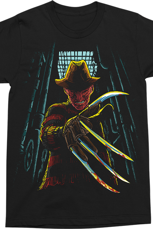 Freddy In The Boiler Room Nightmare On Elm Street T-Shirt
