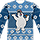 Frosty The Snowman Faux Ugly Christmas Sweater Long Sleeve Tee