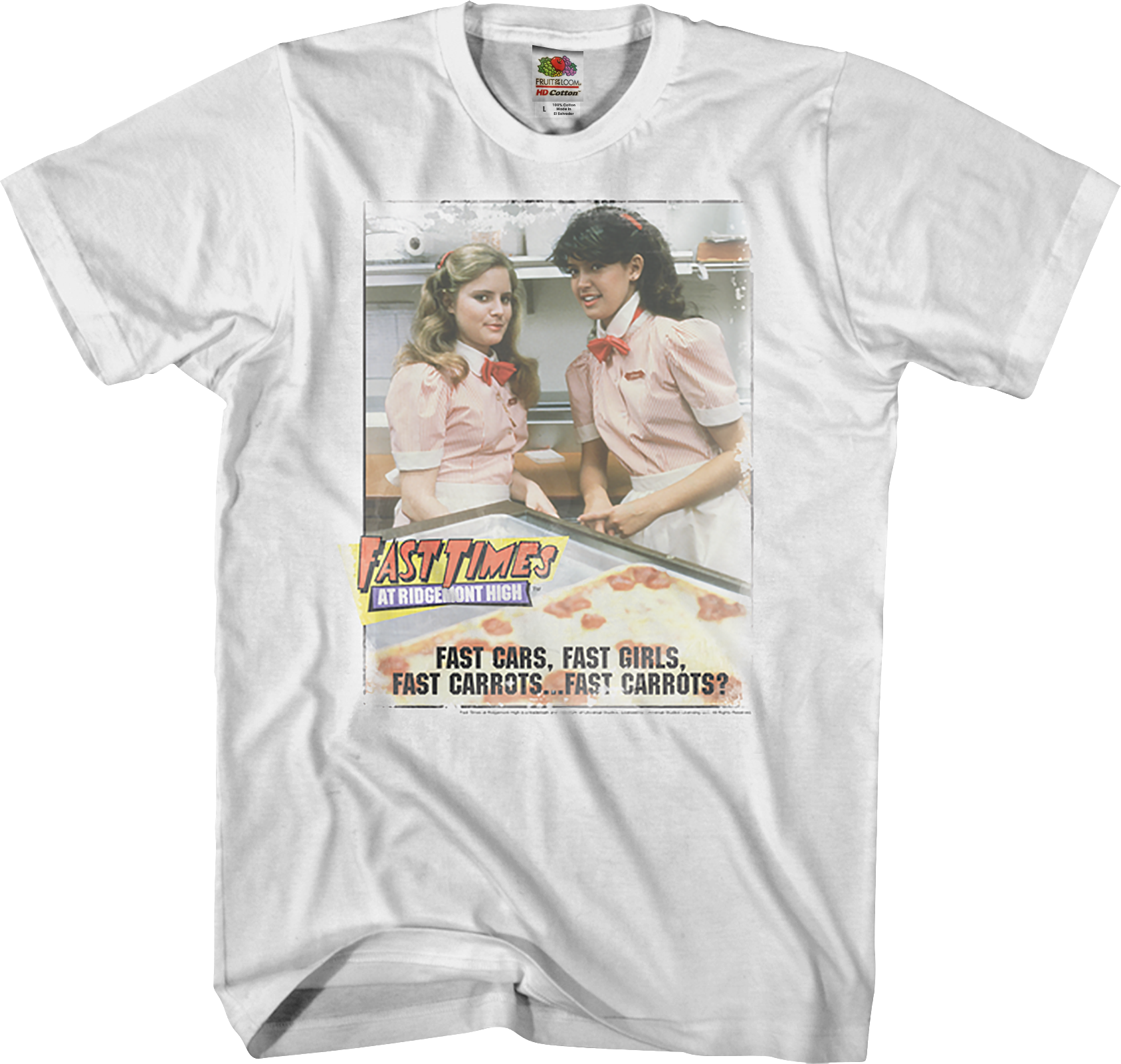 Fast Times at Ridgemont High Movie Poster FAST CARROTS T-Shirt All Sizes
