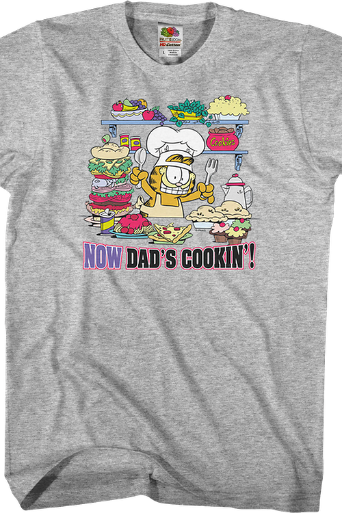 Now Dad's Cookin' Garfield T-Shirt