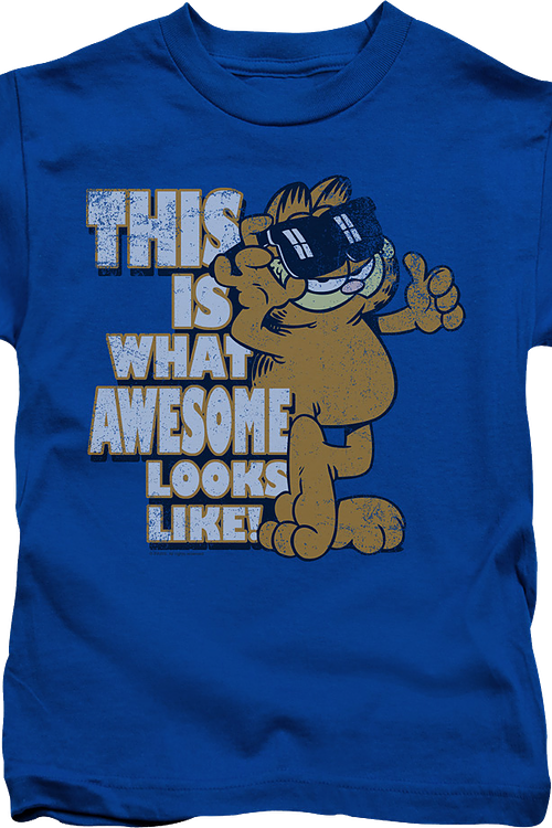 Youth This Is What Awesome Looks Like Garfield Shirt