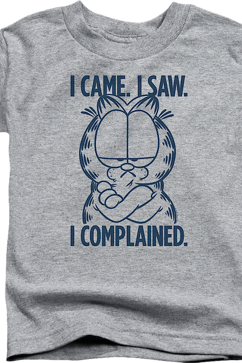 Youth I Came I Saw I Complained Garfield Shirt