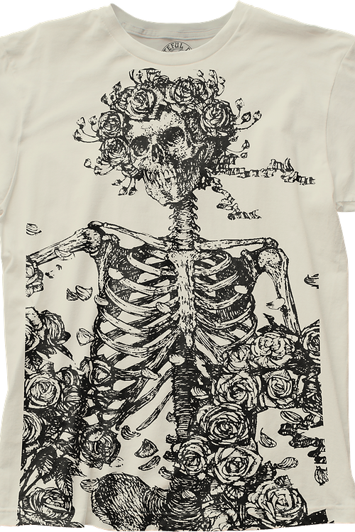 Flower Skeleton Grateful Dead T-Shirt
