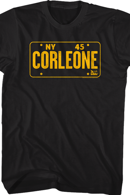 Corleone License Plate Godfather T-Shirt