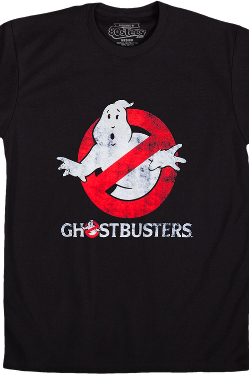 aaf67d9d Distressed Glowing Ghostbusters T-Shirt: Ghostbusters Mens T-shirt