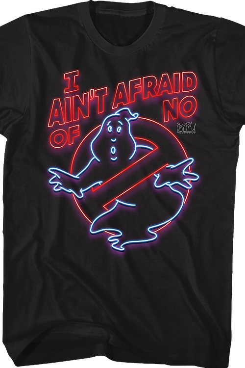 Neon Sign Ghostbusters T-Shirt