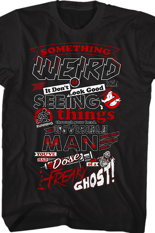 Lyrics Ghostbusters T-Shirt