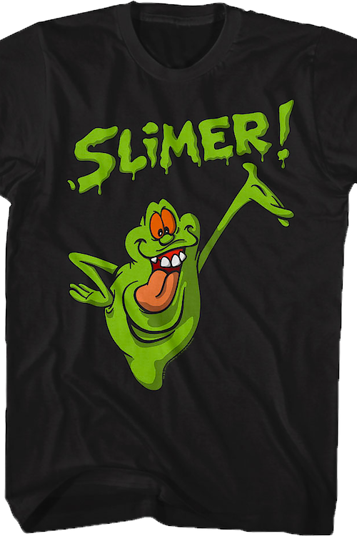Distressed Slimer Real Ghostbusters T-Shirt