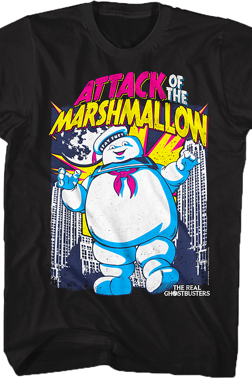 Attack of the Marshmallow Real Ghostbusters T-Shirt