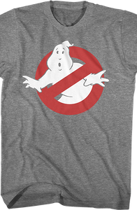 Graphite Ghostbusters Logo T-Shirt