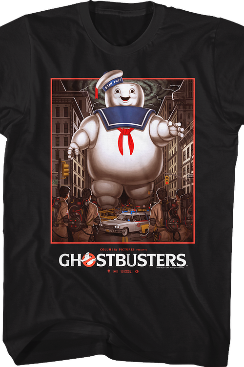 Stay Puft Marshmallow Man vs Ghostbusters T-Shirt