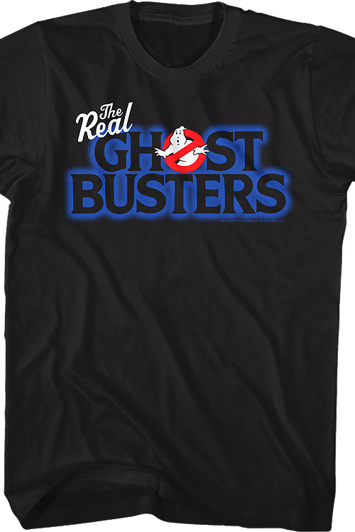 Cartoon Logo Real Ghostbusters T-Shirt