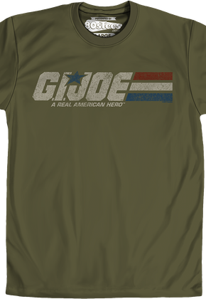 11846635f Distressed Army Green GI Joe T-Shirt