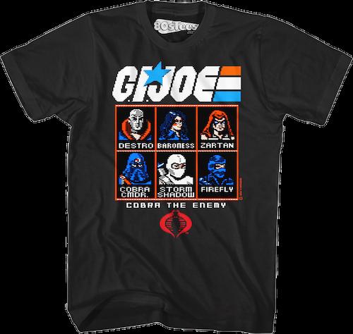 GI Joe Commodore 64 Game T-shirt - S to 6XL