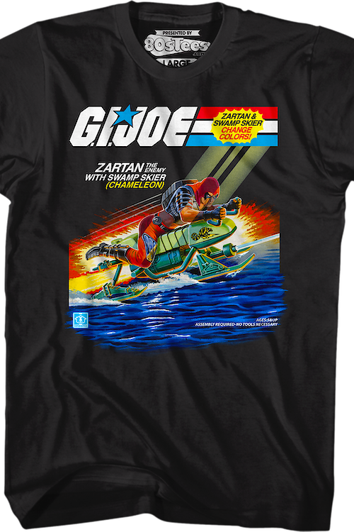 Zartan With Chameleon Swamp Skier GI Joe T-Shirt