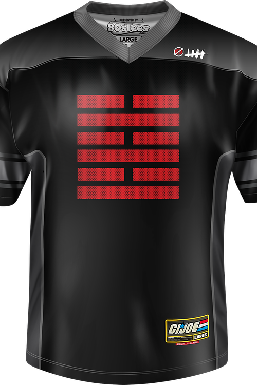 Snake Eyes Arashikage Clan GI Joe Football Jersey