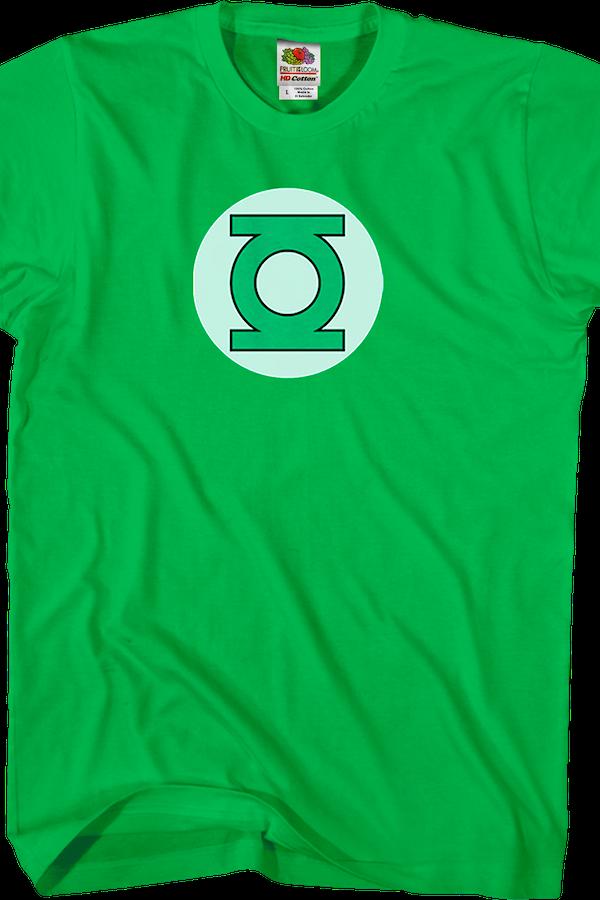 green lantern t shirt dc comics justice league green. Black Bedroom Furniture Sets. Home Design Ideas