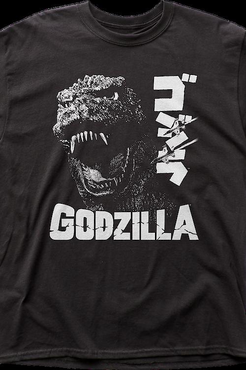 8bd1a9bfbbdb Black and White Godzilla T-Shirt Men's