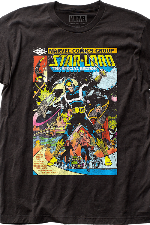 Star-Lord Comic Cover Guardians of the Galaxy T-Shirt