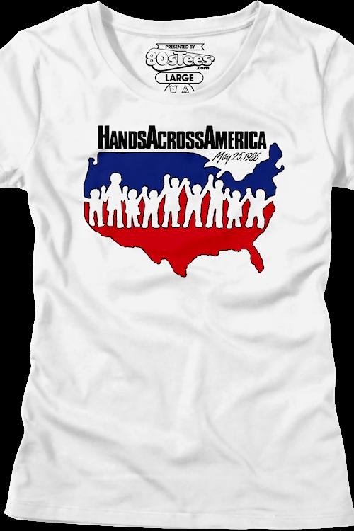 ffa7af62 Ladies Hands Across America Shirt: Hands Across America Womens Tshirt