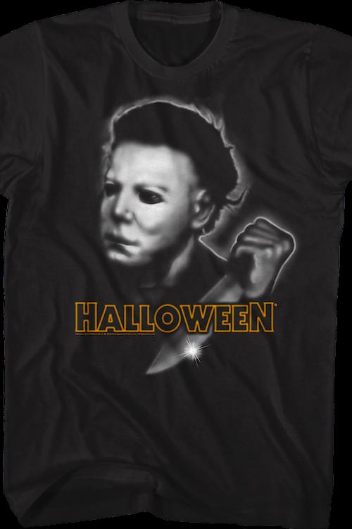 5b9ccbb53 Airbrush Michael Myers Halloween T-Shirt: Halloween Mens T-Shirt