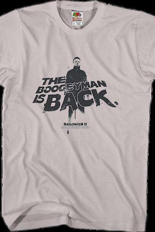 0c444ba2 Boogeyman Is Back Halloween II T-Shirt: Halloween Mens T-Shirt