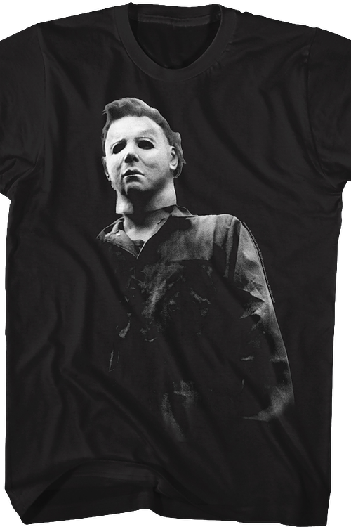 Black and White Michael Myers Halloween T-Shirt