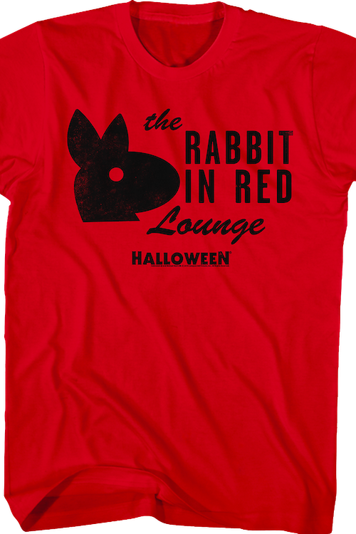 The Rabbit In Red Lounge Halloween T-Shirt