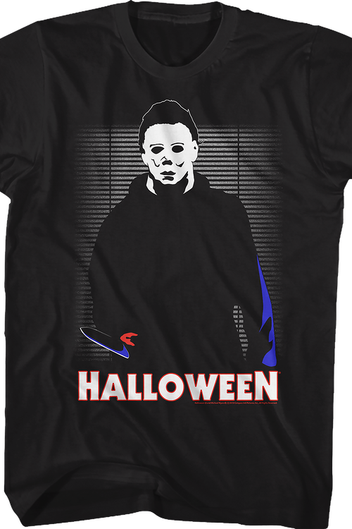 Illustrated Michael Myers Halloween T-Shirt
