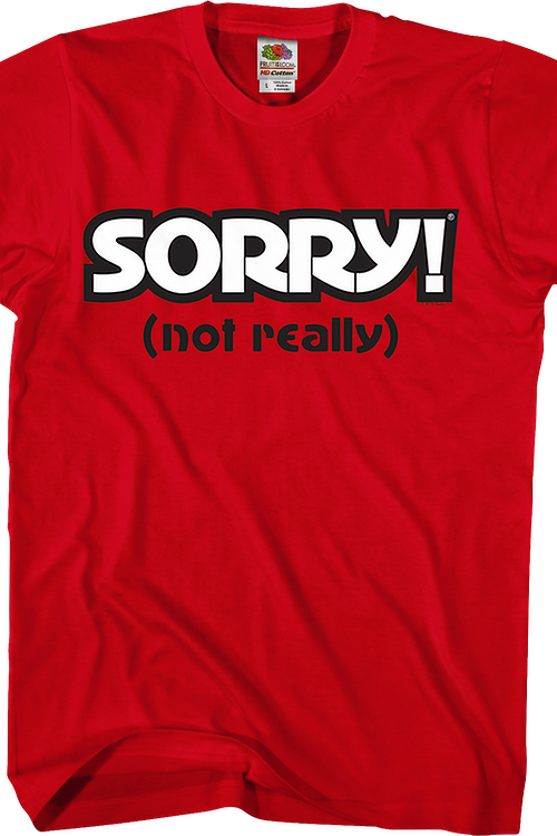 Red Sorry T-Shirt