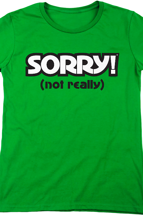 Womens Green Sorry Shirt