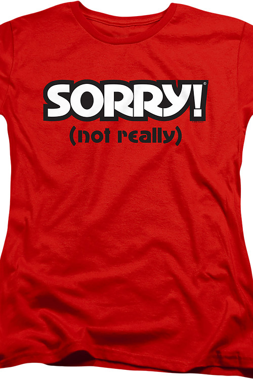 Womens Red Sorry Shirt