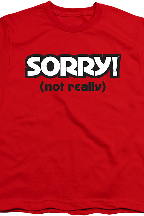 Youth Red Sorry Shirt