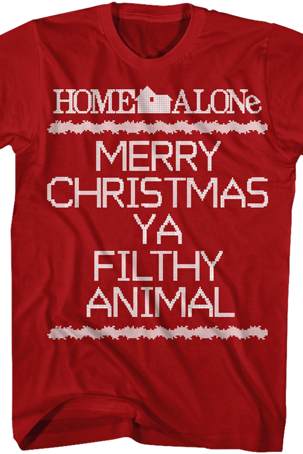 Home Alone Filthy Animal Christmas T Shirt Home Alone