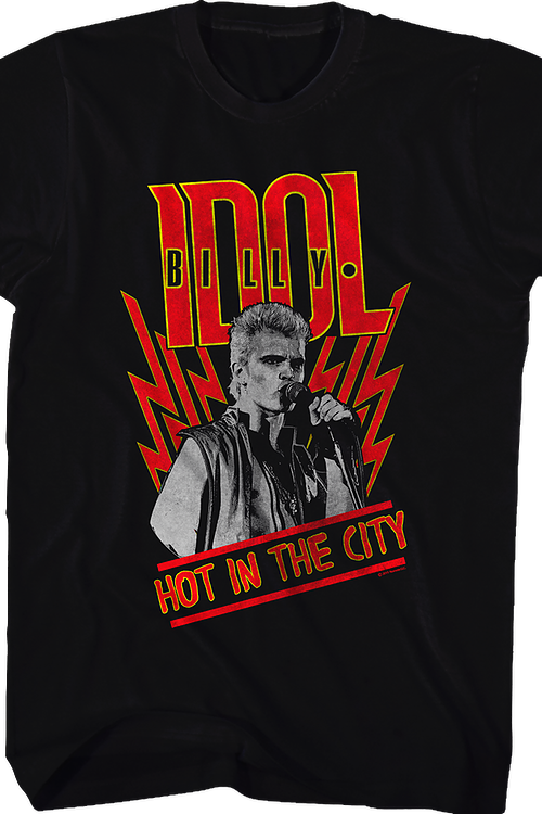 Hot in the City Billy Idol T-Shirt