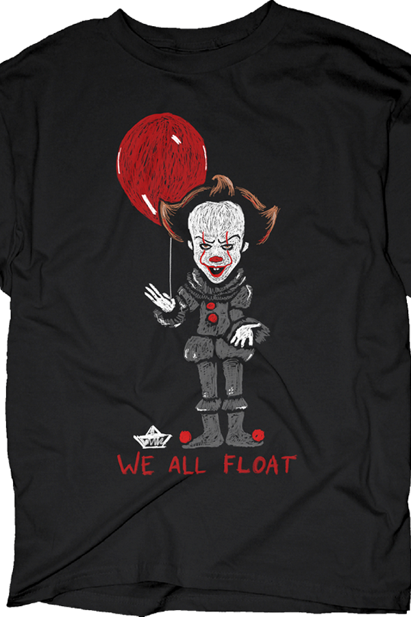 We all float stephen king 39 s it t shirt itmens t shirt for We the kings t shirts