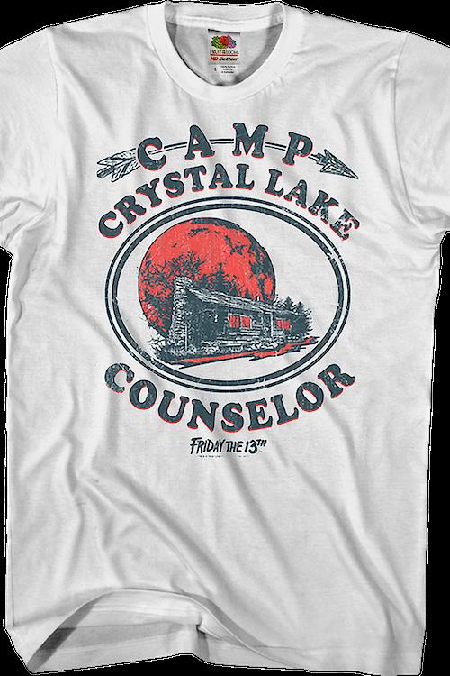 9743bd0b711 Camp Crystal Lake Counselor T-Shirt  Friday the 13th Mens T-Shirt