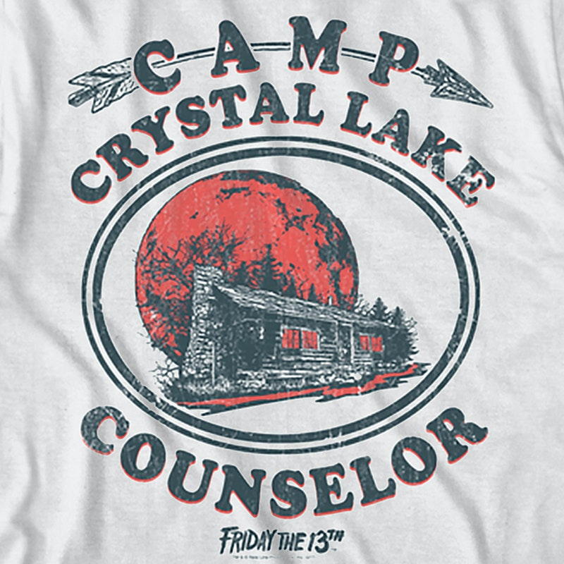 38296253 Camp Crystal Lake Counselor T-Shirt: Friday the 13th Mens T-Shirt