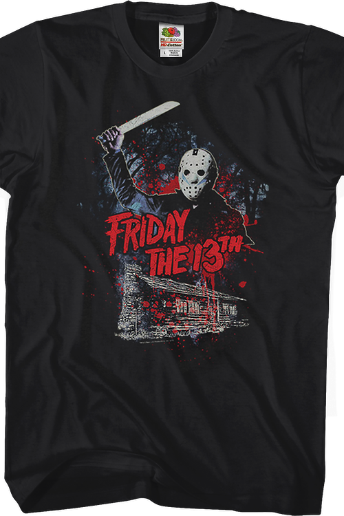 Jason Attacks Friday the 13th T-Shirt