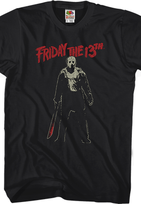 7baacb5425b7 Jason Voorhees Machete Friday the 13th T-Shirt