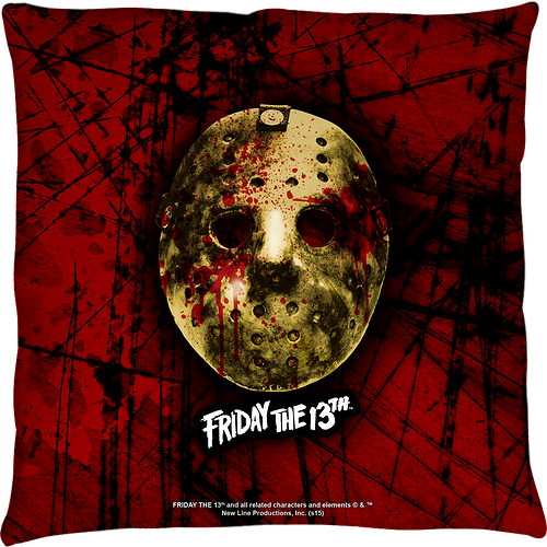 Jason Voorhees Friday the 13th Throw Pillow