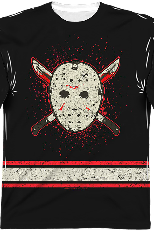 Jason Voorhees Sublimated Faux Friday the 13th Hockey Jersey
