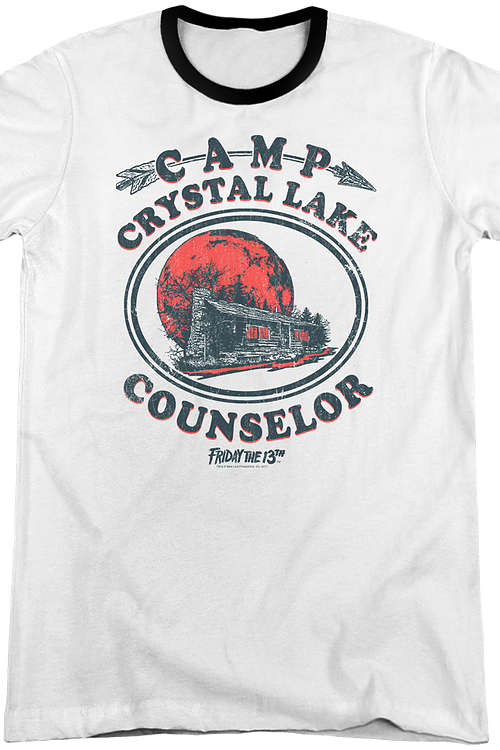 Camp Crystal Lake Counselor Friday the 13th Ringer Shirt