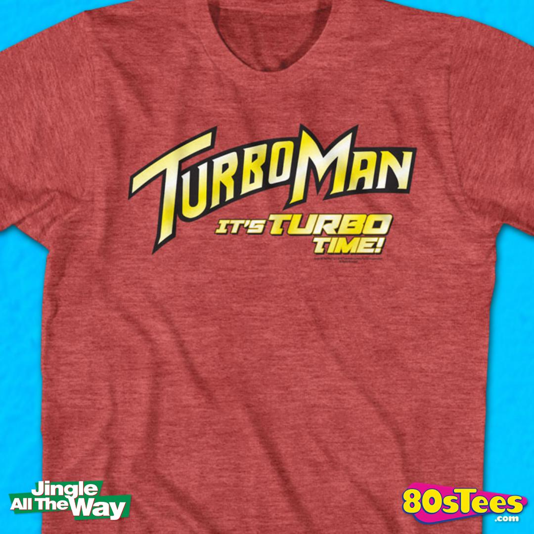 Jingle All The Way Retro Turbo Man Men/'s Red T-shirt