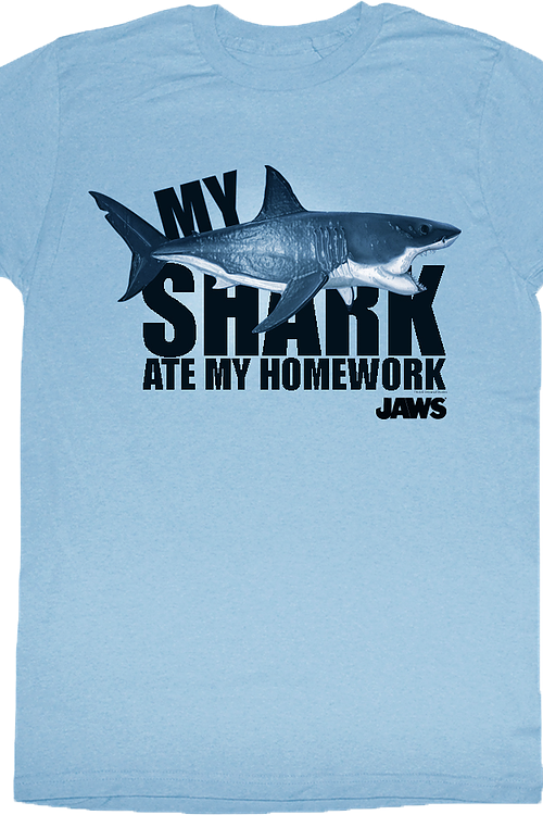 My Shark Ate My Homework Jaws T-Shirt