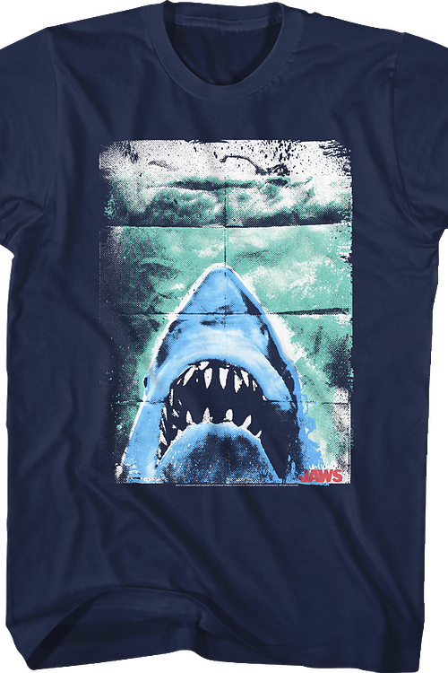 Folded Poster Jaws T-Shirt