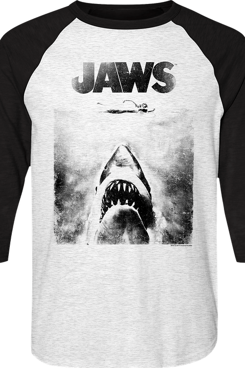 Jaws Raglan Baseball Shirt