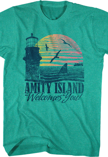 Amity Island Welcomes You Jaws T-Shirt